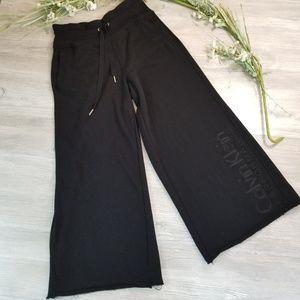 Calvin Klein Black Wide Leg Sweatpants Large